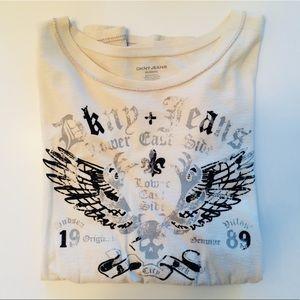 DKNY Jeans - Inside Out Flocked T-Shirt - Size XXL